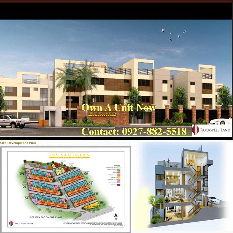 205 Santolan by Rockwell Land Townhouse For Sale in Quezon City Philippines (2/6)