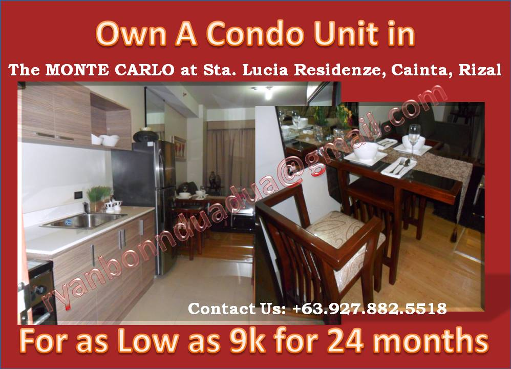 Condo for Sale in Philippines Monte Carlo at Sta. Lucia Residenze in Cainta (2/6)