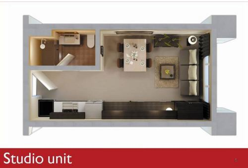 THE STUDIO UNITS  28 Square meter fFoor Area