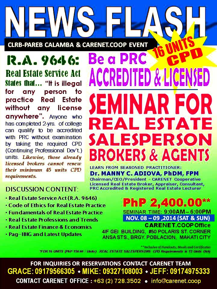 Ral Estate Brokers : Real estate salespersons and brokers seminars events