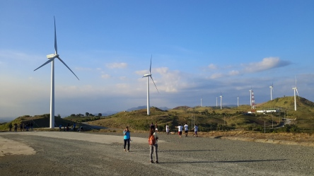 Panoramic View of Windmill in Philippines